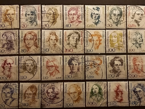 Stamps Women of German history from the series