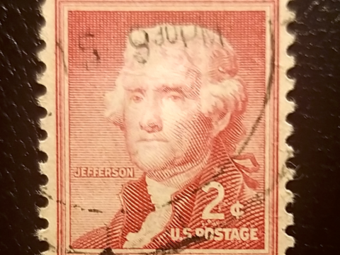 US Postage Stamp Thomas Jefferson Postage Stamp / / 2 Cent Stamped ...