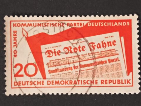 40 years of the Communist Party of BRIEFMARKEN 1958 DDR